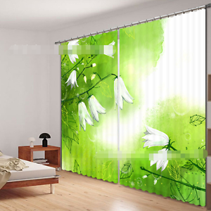 3d blancoo flor 366 bloqueo foto cortina cortina de impresión sustancia cortinas de ventana