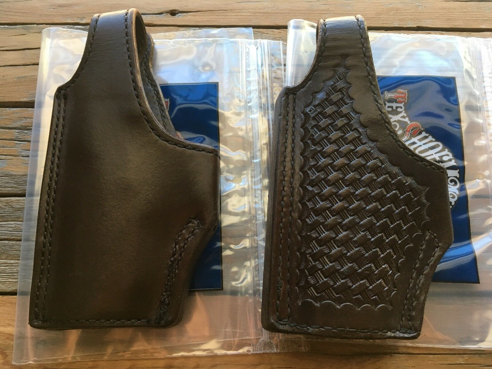 Tex shoesmaker Cordovan Brown Leather Lined High Ride Holster for Sig P228 LEFT