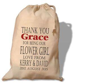Personalised Flower Girl Gift Bag -  Various Sizes - Grace Design