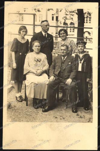Foto-AK-Stuttgart-Gruppenfoto-Junge-Matrosenanzug-SMS-Schwaben-20er Jahre