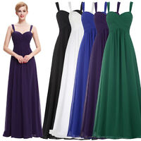 Maternity Purple Evening Formal Prom Chiffon Long Bridesmaid Dress Party Gown
