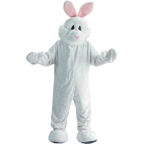 Cosy Easter Bunny Mascot Costume Set Fancy Dress for Kids and Adults