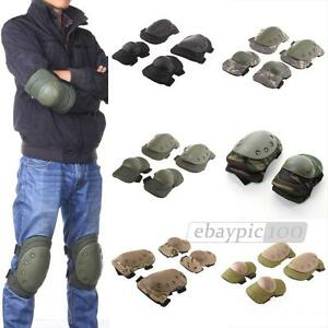 Tactical-Military-Paintball-Skate-Elbow-Knee-Pads-Airsoft-Combat-Protective-Set