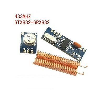 STX882 ASK Transmitter Module + SRX882 Superheterodyne Receiver Module + Antenna