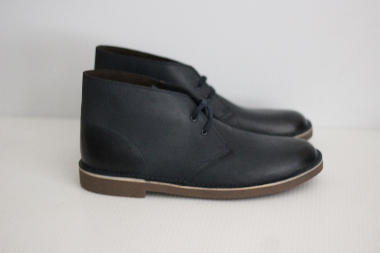 NEW Clarks Bushacre 2 Chukka Boot - Navy Blue Leather - Size 11 US  (L11)