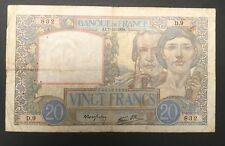FRANCE  20 FRANCS SCIENCE ET TRAVAIL de 1939 ETAT : TB  Réf. D9 832