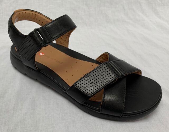 3038bd42cfe Ladies Clarks Casual Unstructured Sandals Un Saffron Black Leather ...