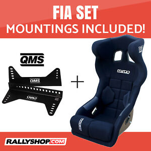 Mirco-RS1-FIA-Racing-Seat-BLACK-VELOUR-Set-with-Bracket-Mountings-Included