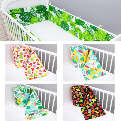 Bettumrandung für Kinderbett Baby Nest Kopfschutz Nestchen Bettnestchen