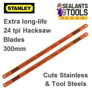 Stanley molybdenum cuts stainless steel hacksaw blades 300mm 24tpi image is loading stanley molybdenum cuts stainless steel hacksaw blades 300mm keyboard keysfo Image collections