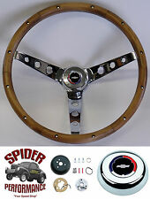 69-74 Chevelle Chevy 2 EL Camino steering wheel CLASSIC BOWTIE CHROM WALNUT 15""