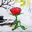 thumbnail 4 - Crystal Red Rose Flower Figurine Craft Collectible Gift For Mothers Day Birthday