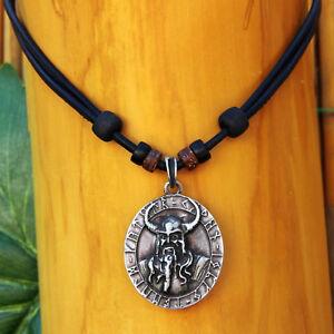 Lederkette-Halskette-Wikinger-Herrenhalskette-Herrenkette-Keltenschmuck-Odin