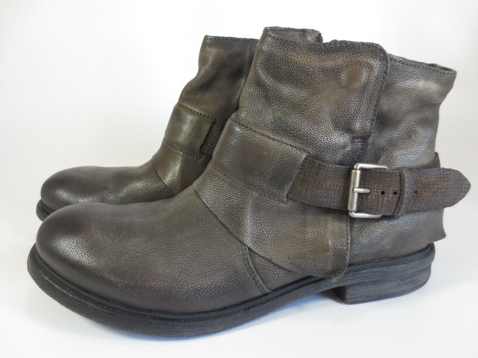 PETROLIO lässige Leder Schuhe Stiefel grau used Lederfutter Gr. 46 NEU 140,00