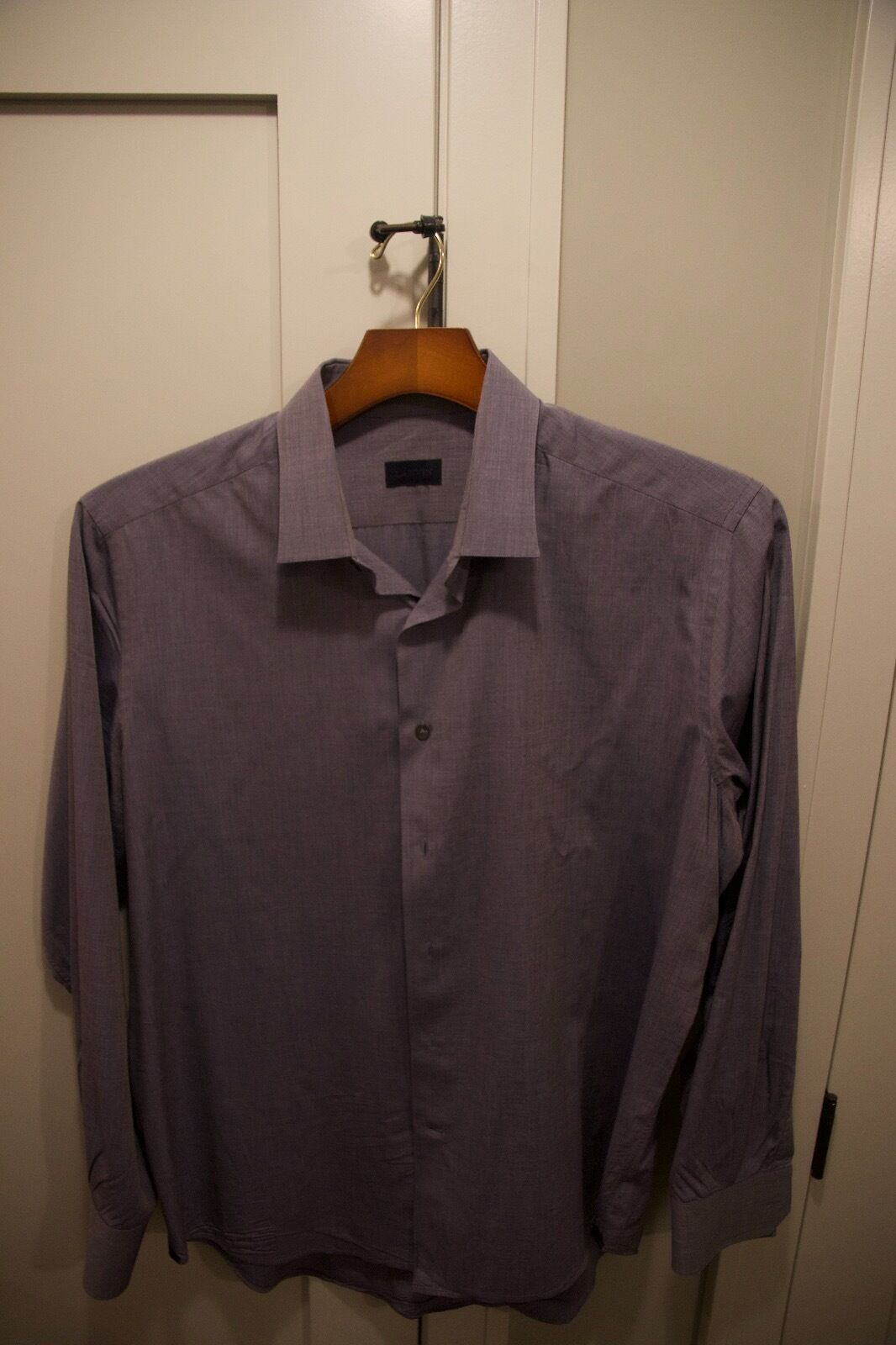Men's Lanvin Long Sleeve bluee shirt 45 18