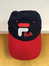 FILA Logo Red White Blue Baseball Cap Hat~Used but in excellent condition