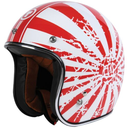 TORC T-50 3//4 Open Face Low Profile Motorcycle Scooter Helmet japanese Bobber