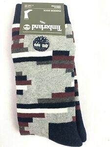 Timberland Navy/Gray/White/Red 1 Pair Pattern Men's Fashion Socks A184Q-433