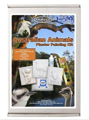 Australian Animals Plaster Hobby Mould Kit