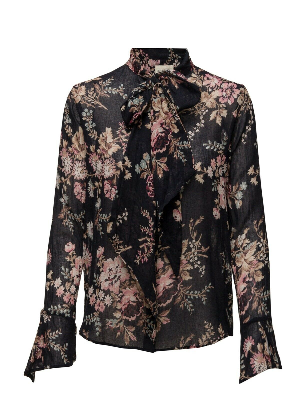 Denim & Supply Ralph Lauren Woherren New schwarz Floral Sophie Tie Neck Shirt Top