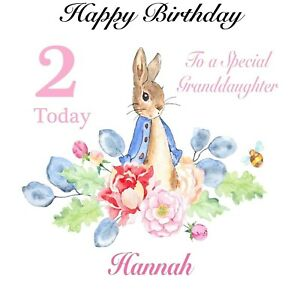 Grandson Daughter Son Personalised Peter Rabbit Any Age Birthday Card Niece