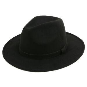 5f475817521ba9 Pop Fashionwear Women's Classic Wide Brim Fedora Hat 516HF | eBay