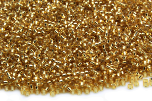 Miyuki Round Rocailles 11//0 Silver Lined Crystal Dk.Gold Seed Bead RR-004