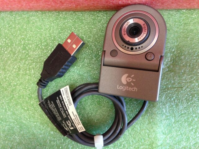 Logitech Silver V-UBG35 Digital USB Webcam Clip-On Camera    9A