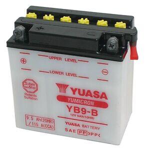 121002 Batteria Yuasa Yb9-b Piaggio Typhoon 50 4t - 4v 12/15 RéSistance Au Froissement