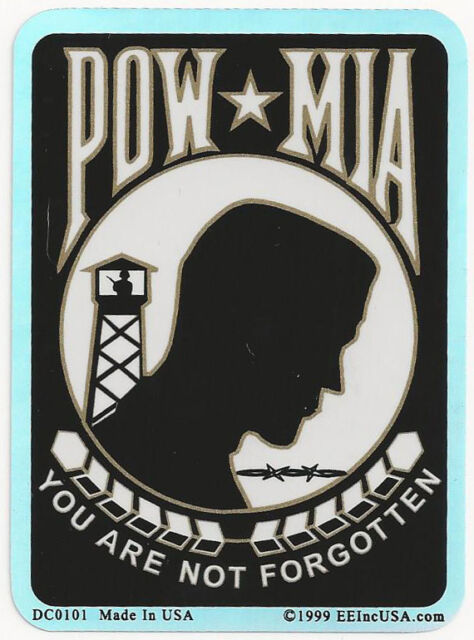 POW-MIA - YOU ARE NOT FORGOTTEN - FOIL STICKER