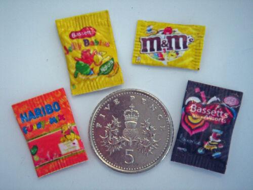 DOLLS HOUSE MINIATURE SWEETS Haribo Jelly Babies Allsorts M/&M/'s  Handmade 1:12th