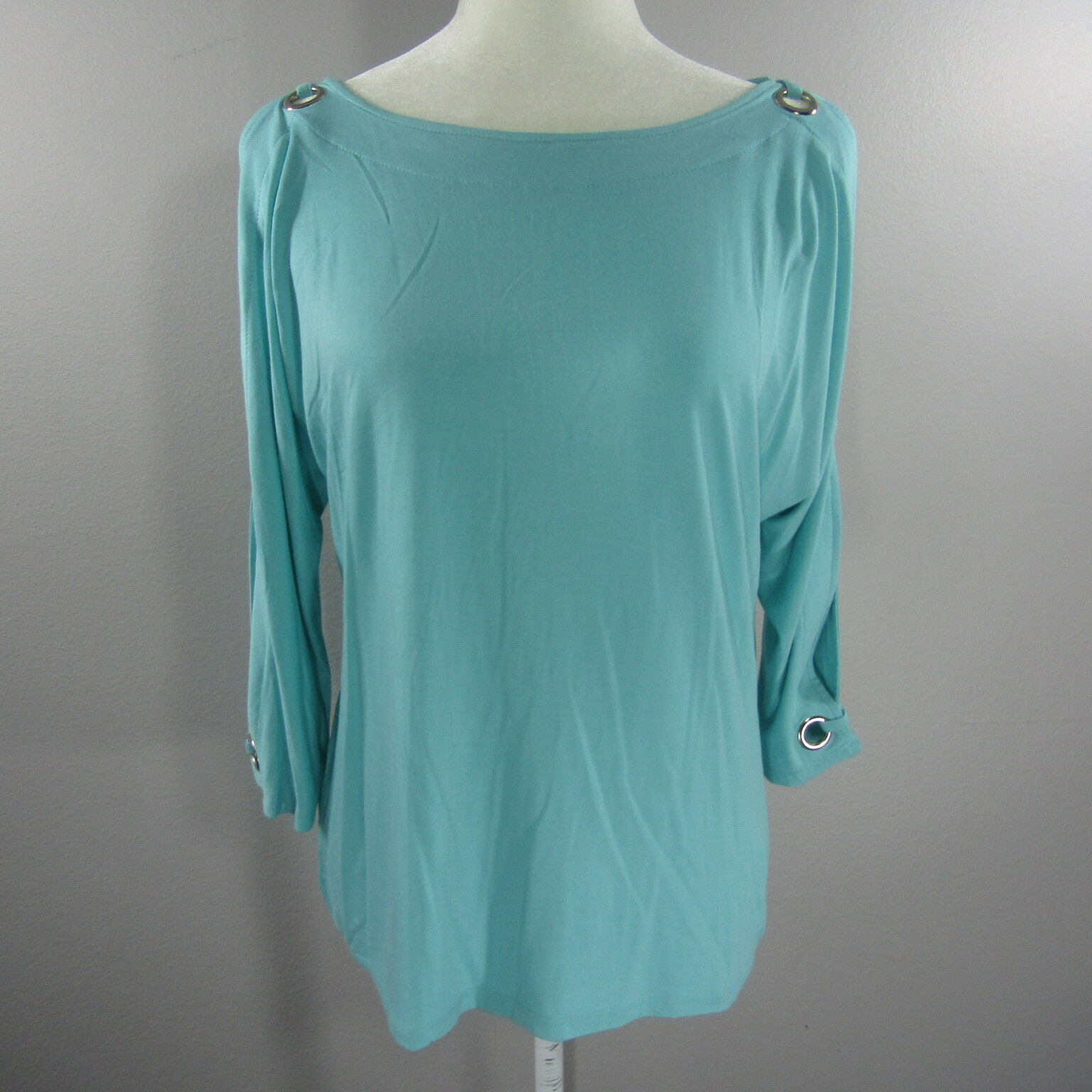 NEWCABLE & GAUGESoft Grün Cold Shoulder Blouse Shirt Größe Petite Medium