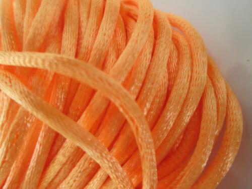 17 METER  Satin Kordel Orange 2,5mm  Borte Spitze Nähen