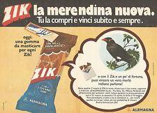 X0594 Merendina ZIK - Alemagna - Pubblicità del 1976 - Vintage advertising