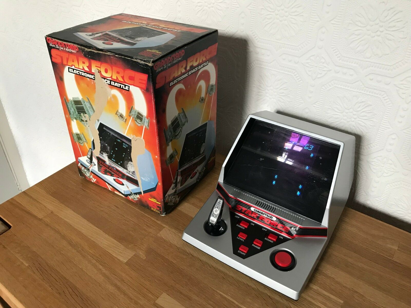 Super Boxed Grandstand Star Force Vintage 1984 Tabletop Electronic Game in VGC.