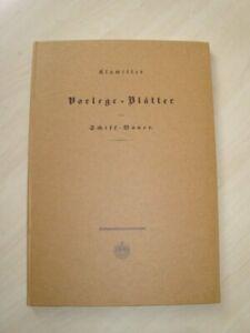 Vorlege-Blätter für Schiff-Bauer. Nachdr. d. Ausg. Berlin 1835. Klawitter
