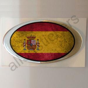 Pegatina-Espana-Ovalada-Pegatinas-Bandera-Vieja-Adhesivo-3D-Relieve-Resina