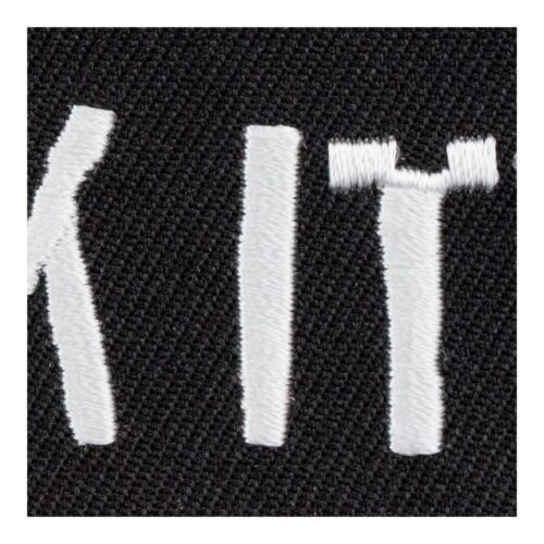 Funny Patches Suck It Distressed Black /& White Patch