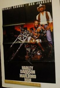 DON-JOHNSON-Mickey-Rourke-Large-Magazine-POSTER-Harley-Davidson-Marlboro-Man