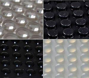 3M-Silikon-GUMMIFUssE-Selbsthaftendem-KLAR-schwarz-rund-Selbstklebend-Kreise