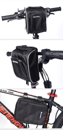 Electric Bike Front Frame Bag Case Bicycle Portable Battery Storage waterproof
