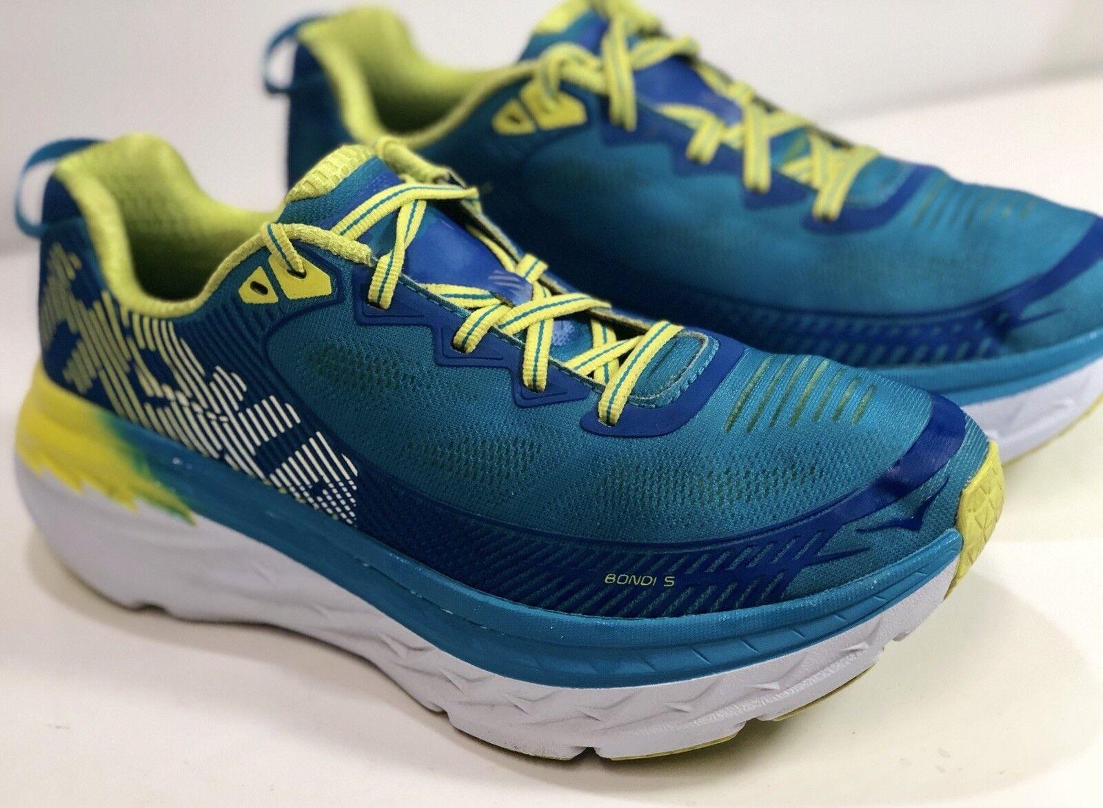 Hoka One One One One Bondi 5 para mujer Talla 8.5 Azul Zapatos De Correr Atléticos Cal  Con precio barato para obtener la mejor marca.