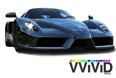 "VViViD 7ft x 60"" Black supercast chrome vinyl car wrap roll film adhesive decal"
