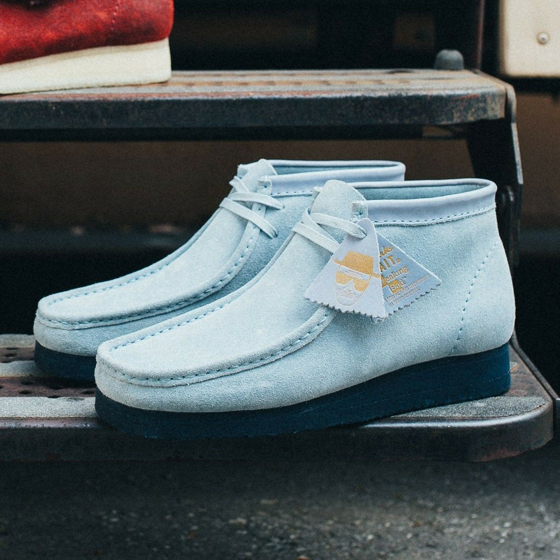 BAIT x Breaking Bad x Clarks Wallabee bota azul Sky US11.5