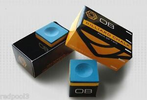 2 Pieces - OB Pool Chalk - BLUE -  OB Cue Premium Quality Billiard Chalk
