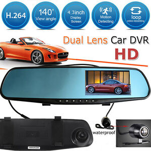 4 3 auto dvr r ckspiegel monitor dashcam mit. Black Bedroom Furniture Sets. Home Design Ideas
