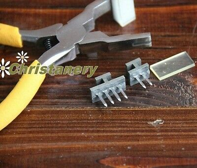 2 and 4prong Leathercraft Pricking Iron Diamond Stitching Chisel Leather Nippers