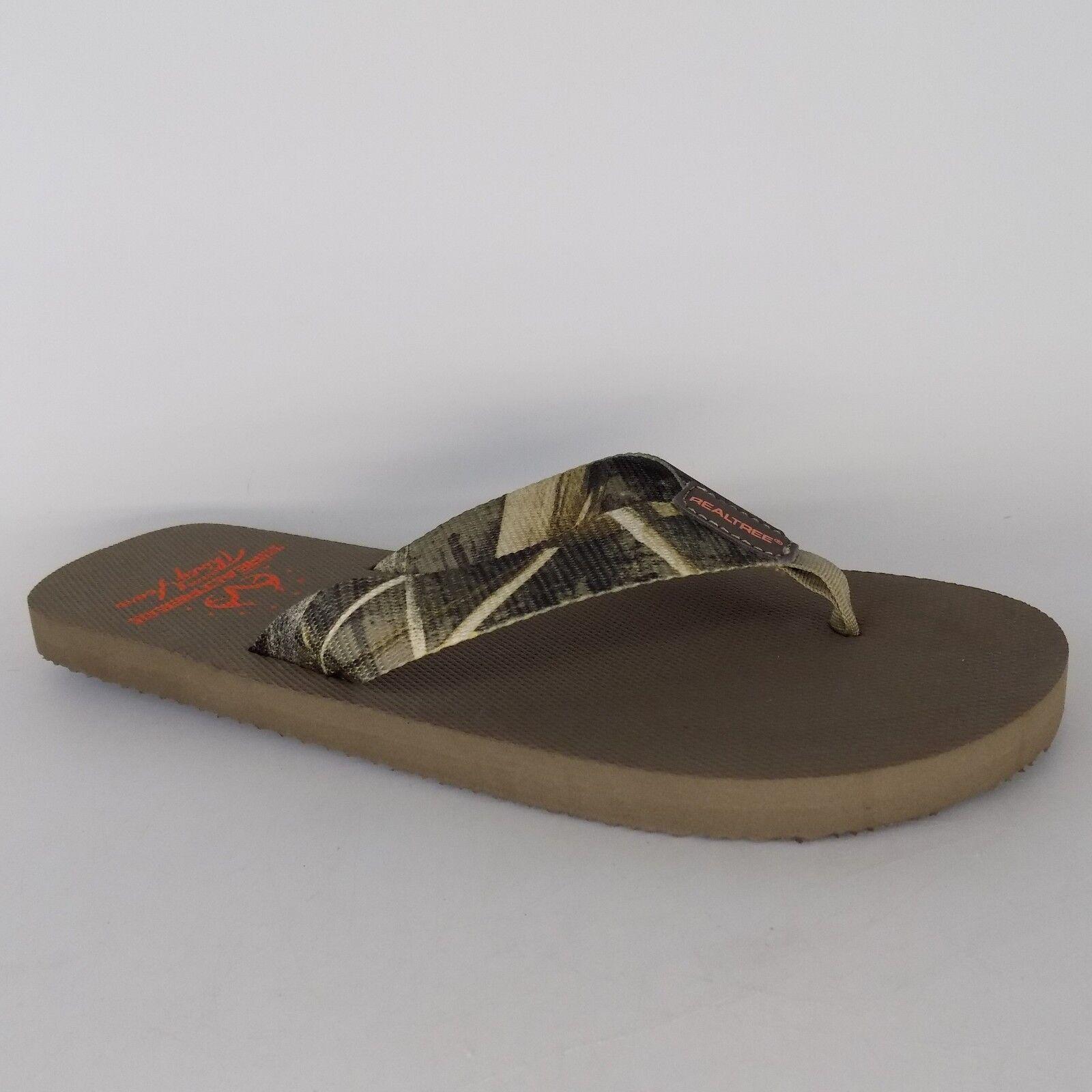 Real Tree Green Tide GWP Flip Flop Men Sandals Size 9.5 M AL3119