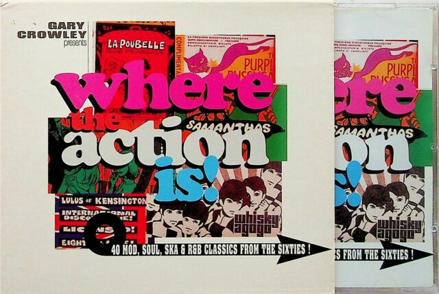 GARY CROWLEY WHERE THE ACTION IS Best of 60s MOD Soul Ska 2-CD Koobas/Guitar Red