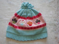 Gymboree Girls Cupcake Sweater Hat 2t -5t 2 3 4 5 Blue
